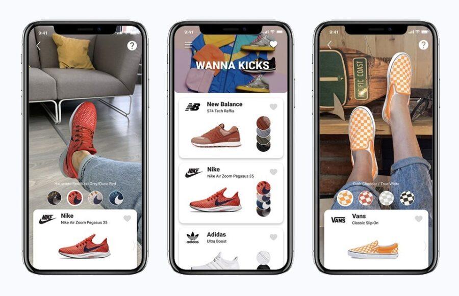 Как примерить кроссовки с помощью приложения