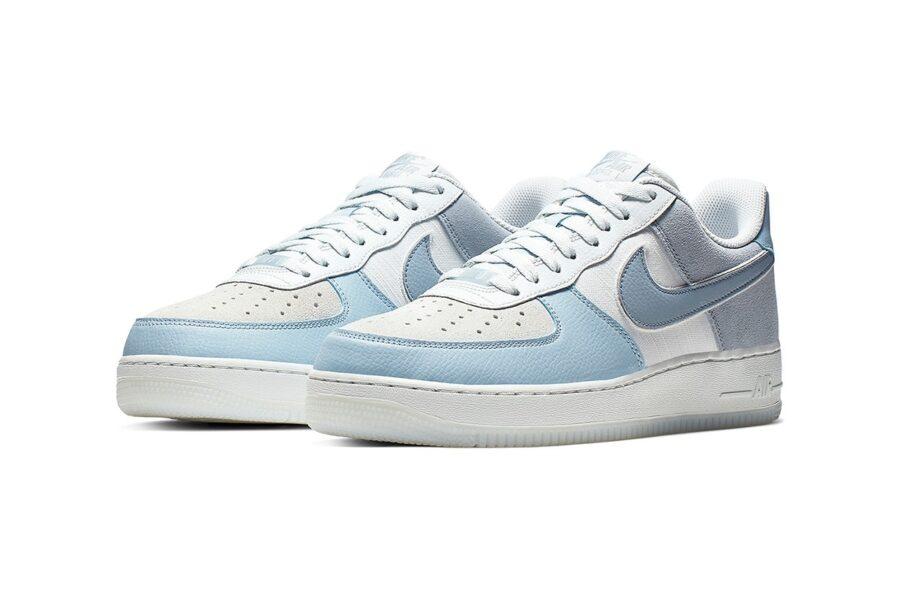 Nike Air Force 1 Low в сочетании из кожи, замши и канваса