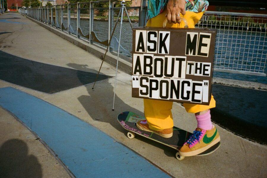 "Текстурный коллаб Cactus Plant Flea Market x Nike Blazer ""Sponge"""