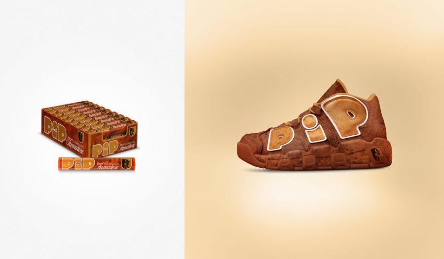 Дизайн кроссовок в стили винтажных итальянских брендов