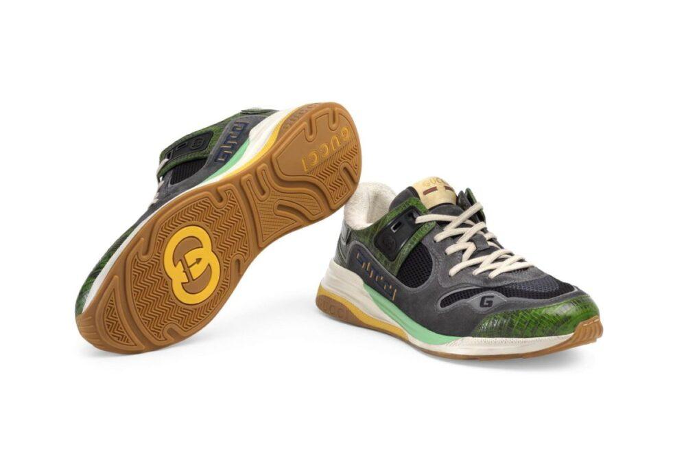 Винтажный дизайн кроссовок Gucci UltraPace Mixed