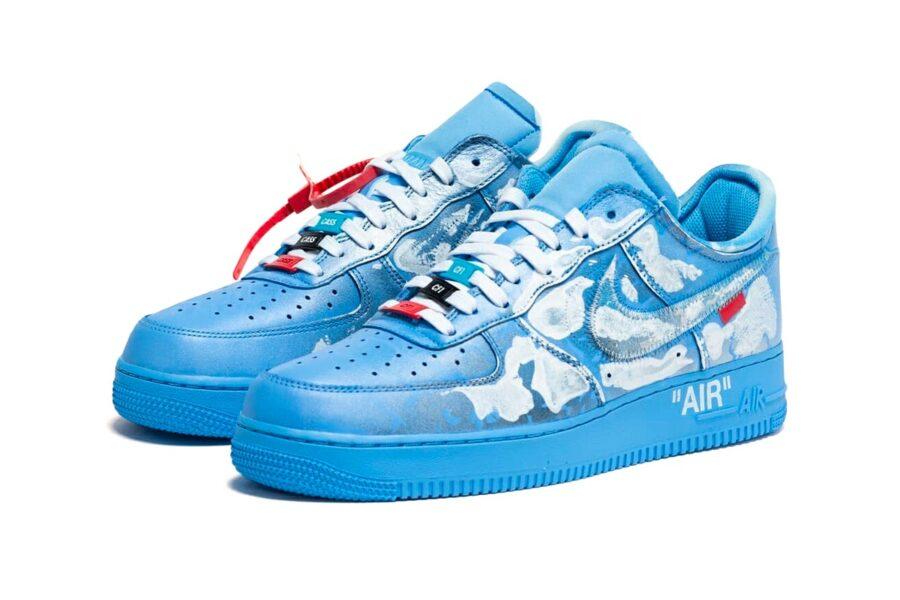 Лимитированная серия из 20 пар кроссовок Virgil Abloh x MCA Chicago x Cassius Hirst x Nike Air Force 1 '07