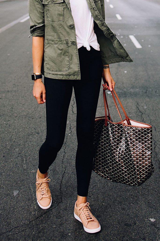 кроссовки коричневые с сумкой