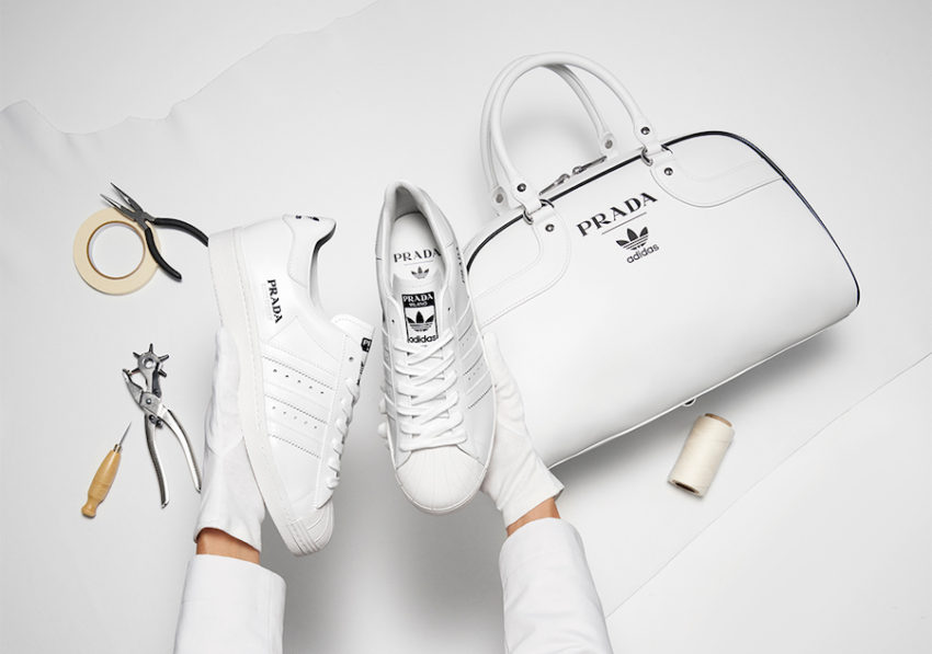 Официальный релиз Prada и adidas