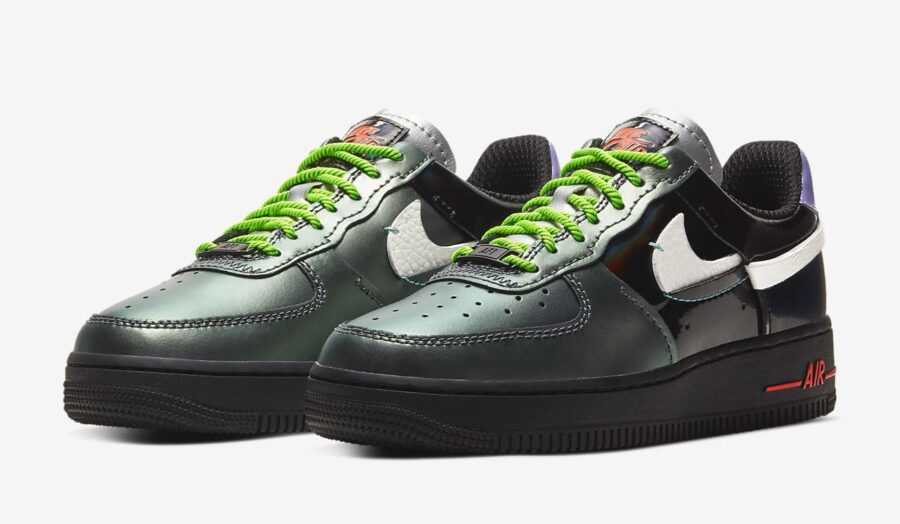 Nike Air Force 1 '07 LX Black Metallic Silver