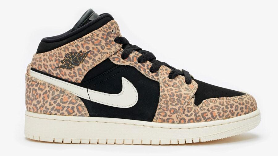 Nike Air Jordan 1 Mid Leopard Print