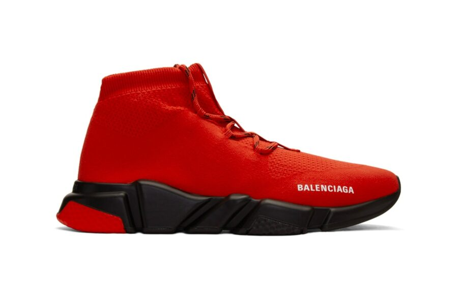 "Кроссовки Balenciaga Speed Lace-Up Trainers ""Red/Black"""