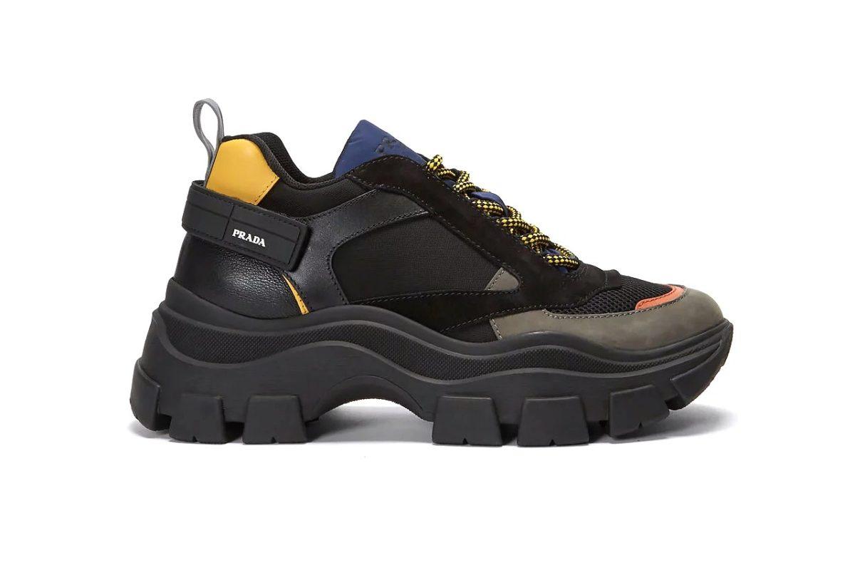 Массивные кроссовки от Prada Block Low