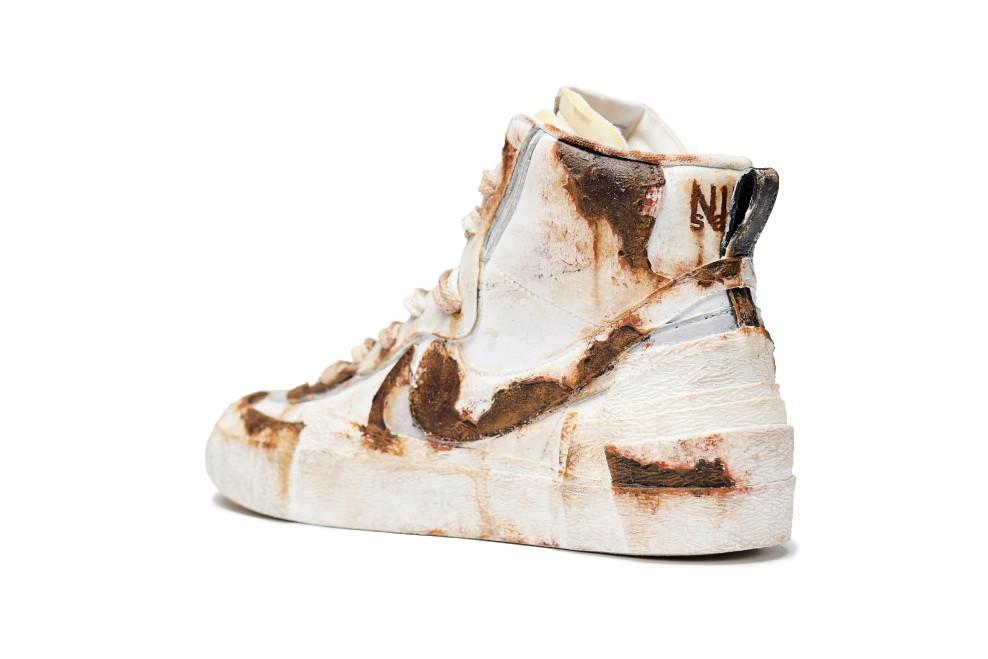 ржавые sacai x Nike Blazer Mid