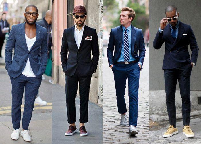 Кроссовки с офисной одеждой