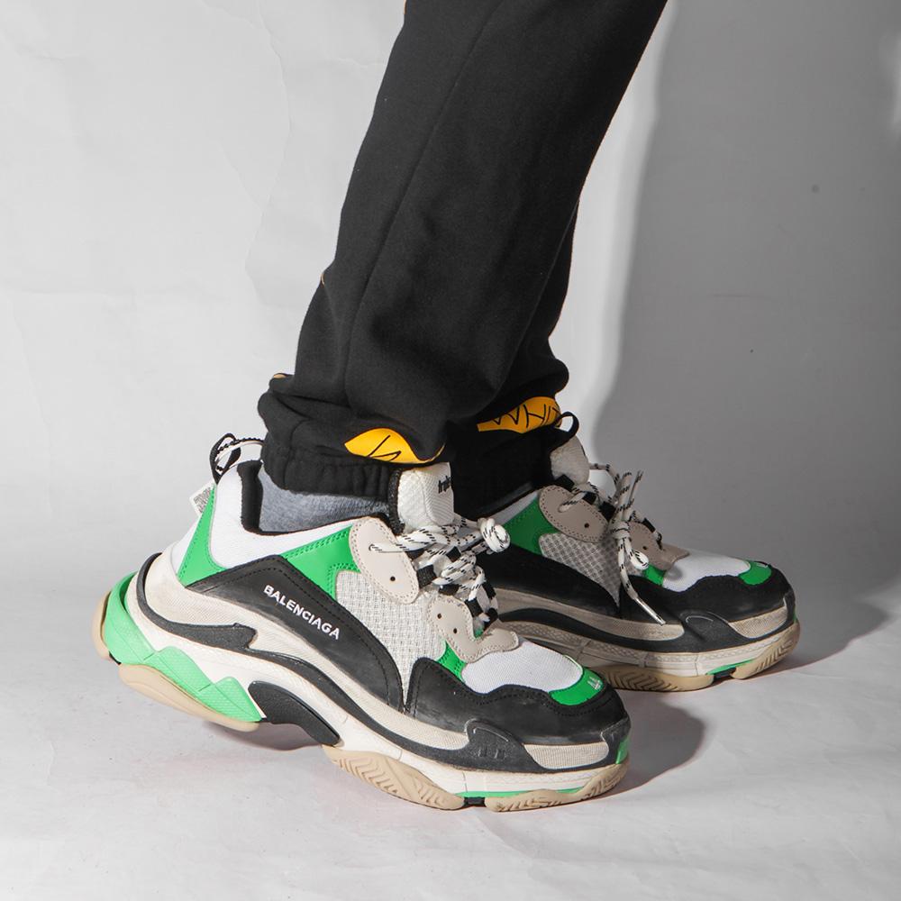 баленсиага кроссовки зеленые