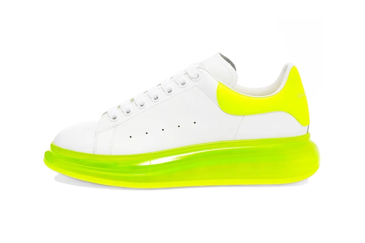 Кроссовки Alexander McQueen Oversize в новых цветах и с прозрачной подошвой