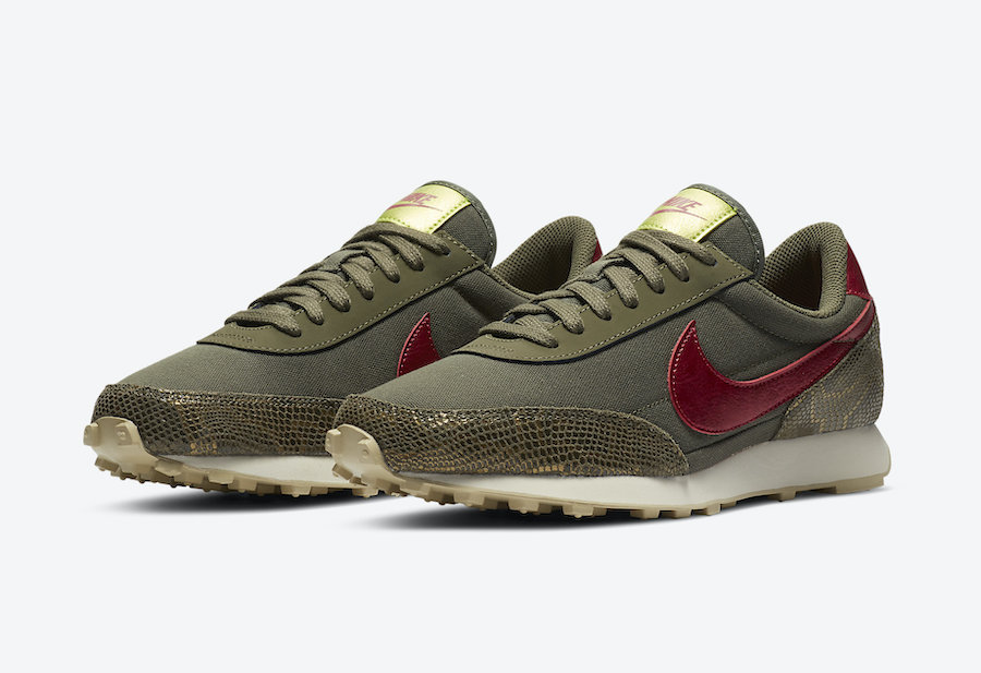 Кроссовки Nike Daybreak из канвы и со змеиным принтом
