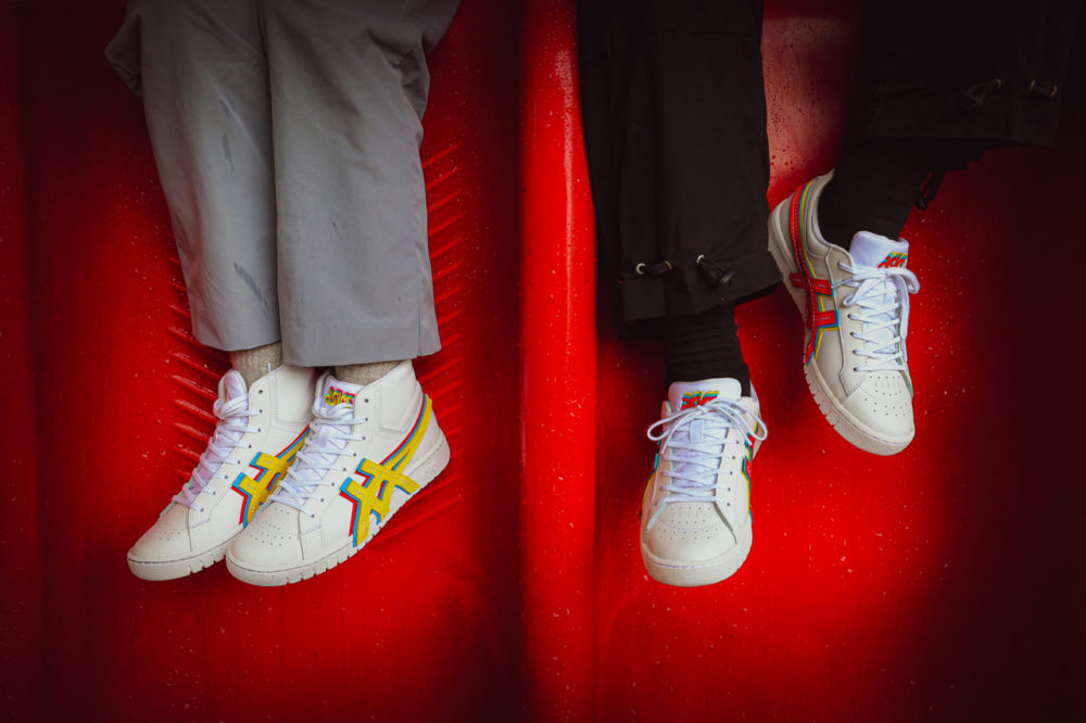 """Яркие кроссовки от ASICS и Atmos GEL-PTG """"3 STRAND"""""""