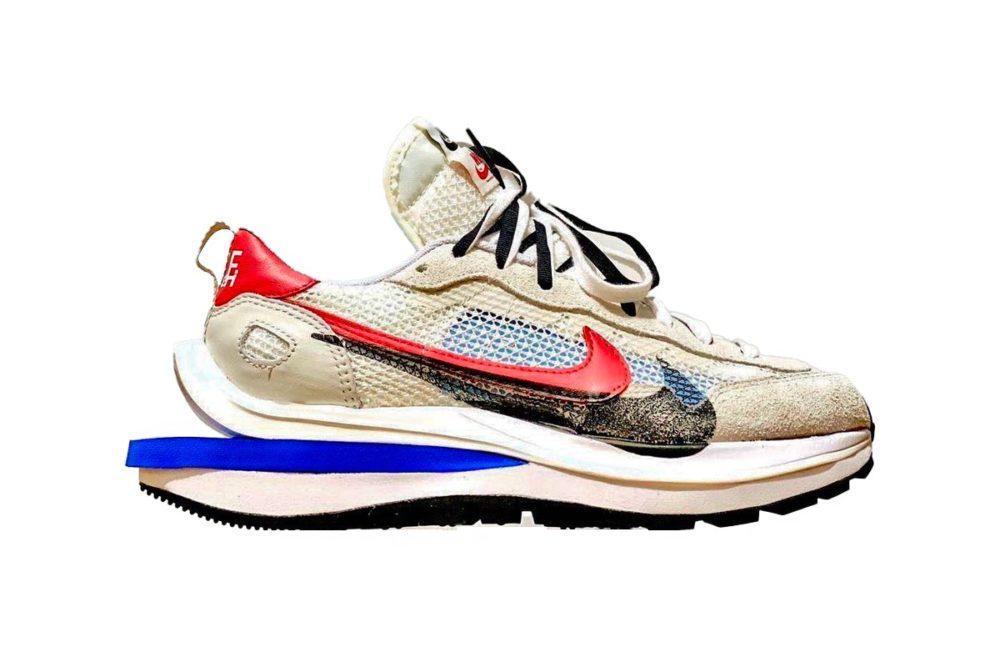 """Первые фото кроссовок sacai x Nike Vaporwaffle """"Game Royal/Sport Fuchsia"""""""