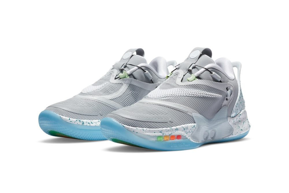 "Nike Adapt BB 2.0 в цвете ""MAG"" как в фильме Back to the Future 2"