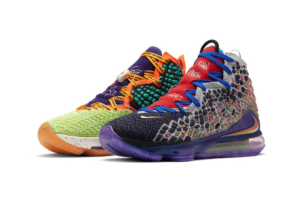 "Nike LeBron 17 ""What The"" состоящие из 17 цветов"