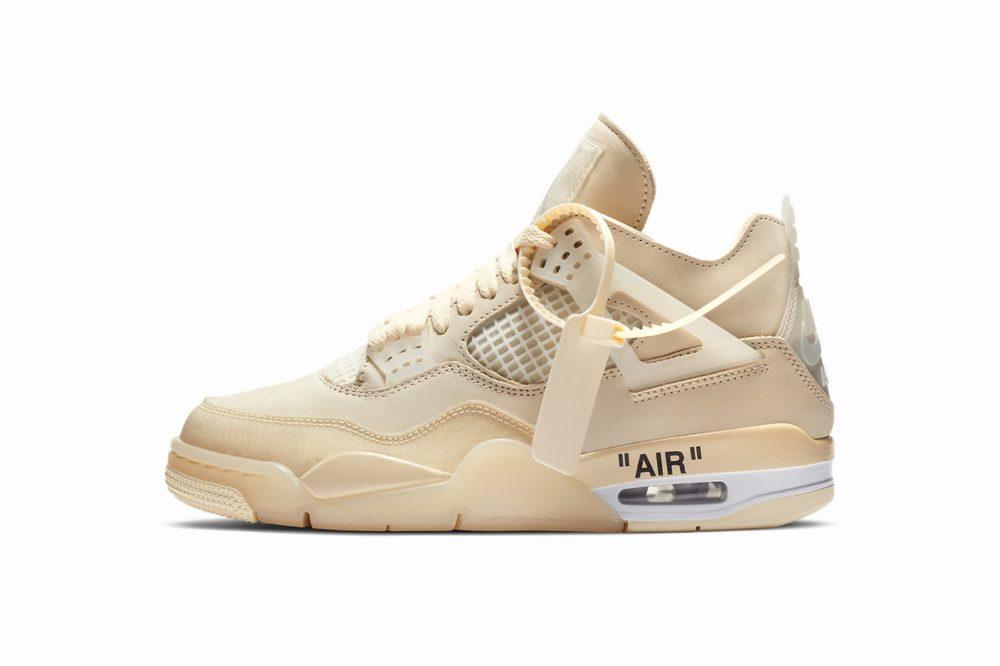 """Официальный релиз женской версии Off-White™ x Air Jordan 4 """"Sail"""""""