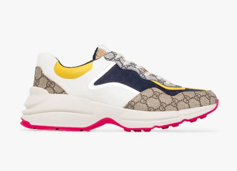 Разноцветные кроссовки с монограммой GG - Gucci Rhyton
