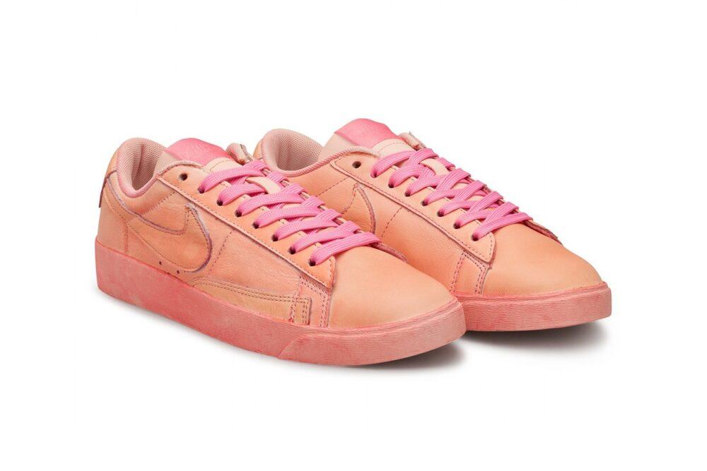 Низкие кроссовки Nike Blazer от COMME DES GARÇONS GIRL с неповторяющимся окрашиванием