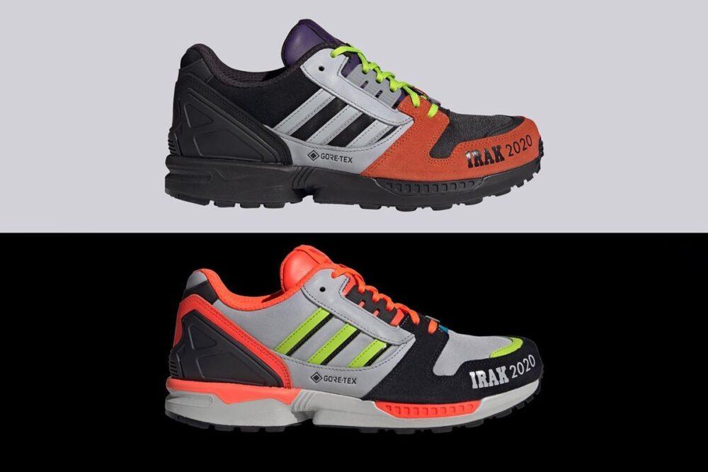 Кроссовки IRAK и adidas Originals GORE-TEX ZX 8000 от легендарной команды граффити художников