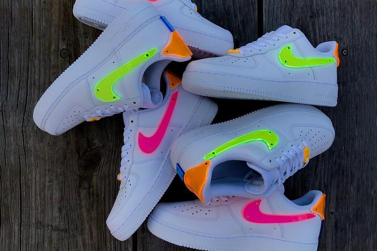 Неоновые кроссовки Nike Air Force 1 совместно с TBD in Process