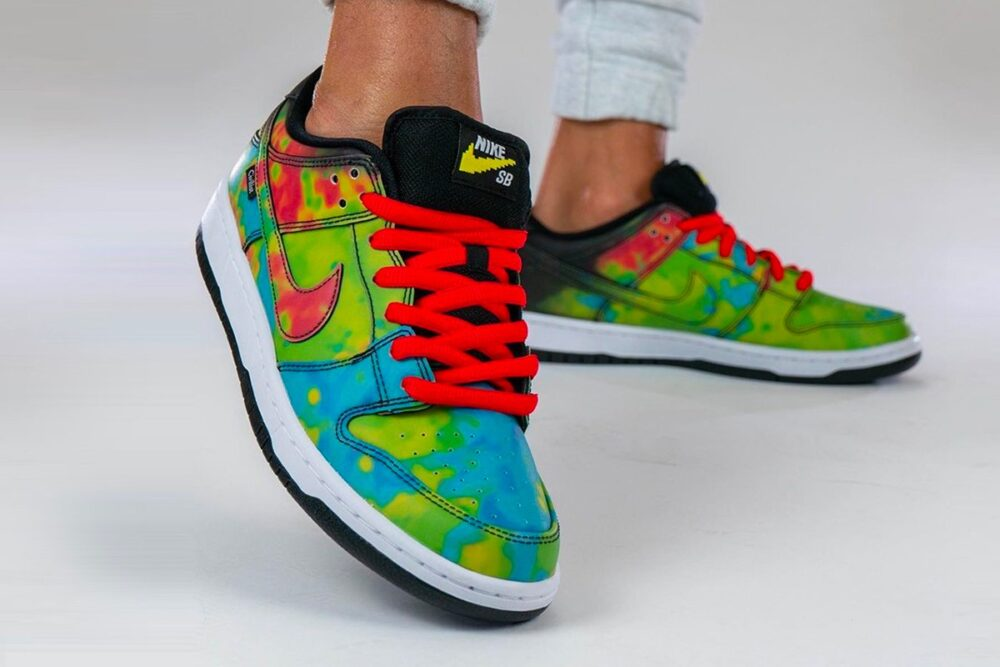 Кроссовки Nike SB Dunk Low & Civilist с изменяемым рисунком в зависимости от температуры