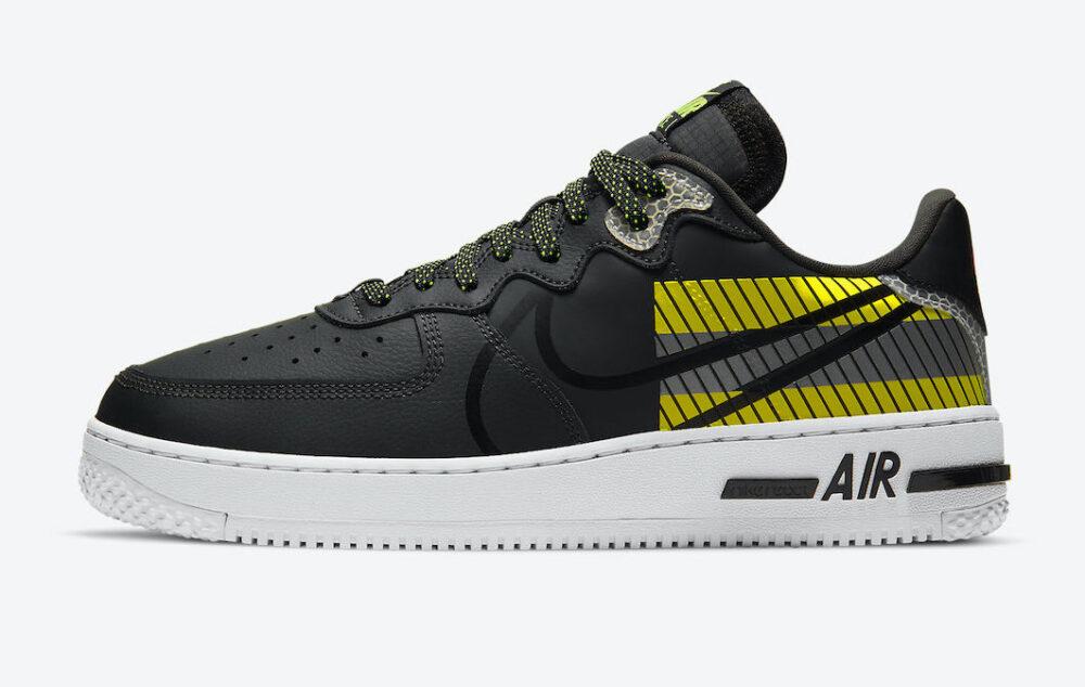 Официальные изображения кроссовок 3M x Nike Air Force 1 React D / MS / X