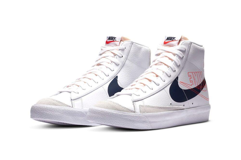 Кроссовки Nike Blazer Mid '77 с двойным и перевернутым логотипом