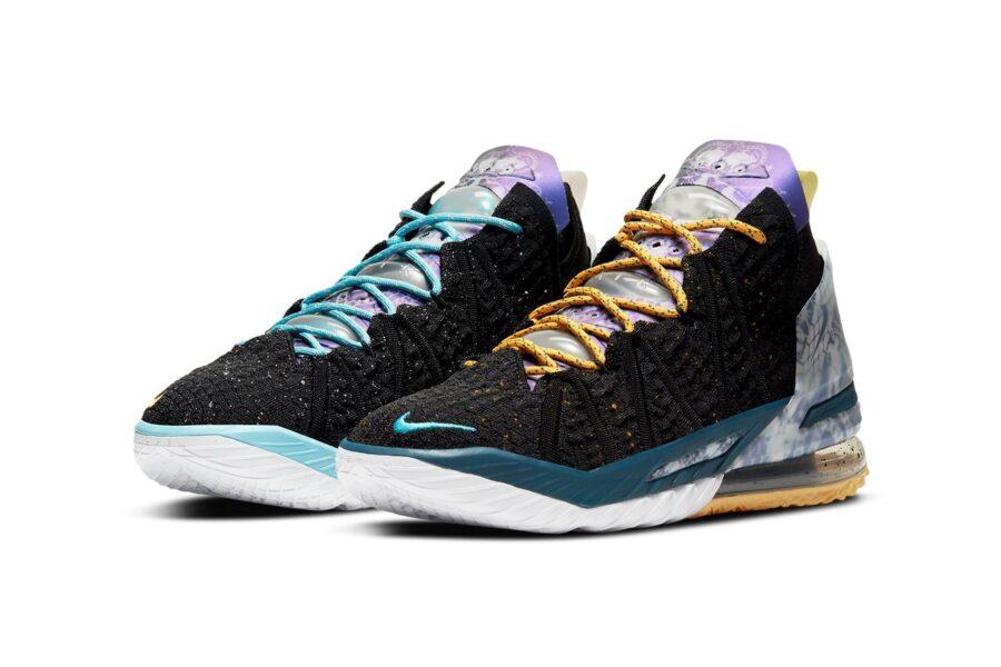 """Баскетбольные кроссовки Nike LeBron 18 """"Reflections"""". Дань уважения некоторым моментам в карьере Леброна Джеймса"""