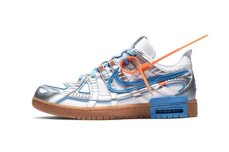 "Кроссовки Off-White x Nike Air Rubber Dunk ""University Blue"". Гибрид из SB Dunk и P-6000"
