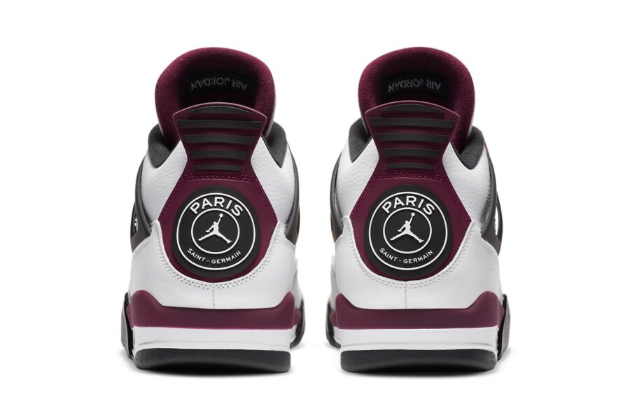 Кроссовки Paris-Saint Germain x Air Jordan 4. Сочетание эмблемы парижского футбольного клуба с элегантным баскетбольным силуэтом