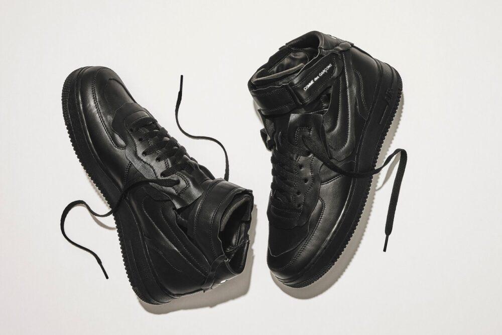 Кроссовки COMME des GARÇONS & Nike Air Force 1 Mid в белом и черном варианте