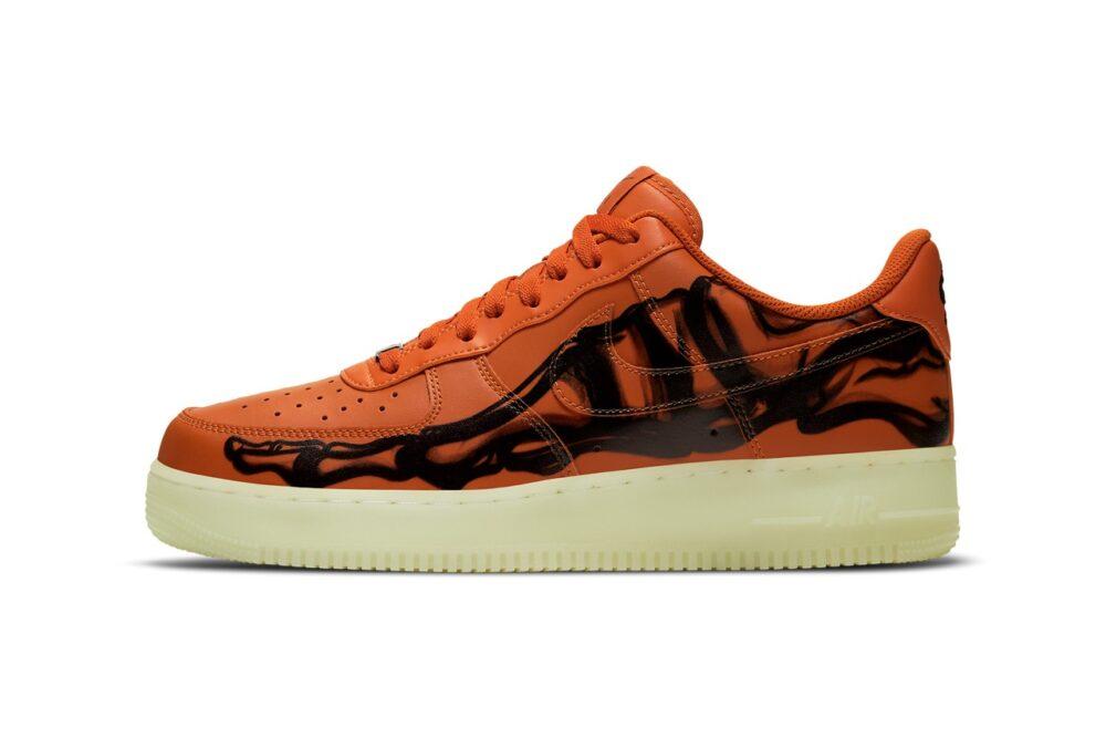 Кроссовки Nike Air Force 1 Skeleton 2020 в оранжевом цвете