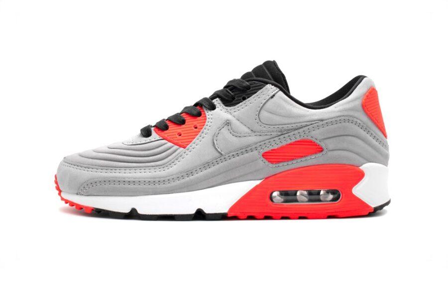Рельефные кроссовки Nike Air Max 90 с мягким серым материалом