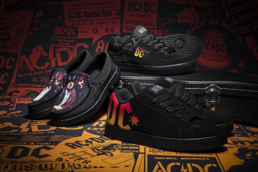 Кроссовки DC Shoes в честь 40-летия альбома AC/DC Back In Black