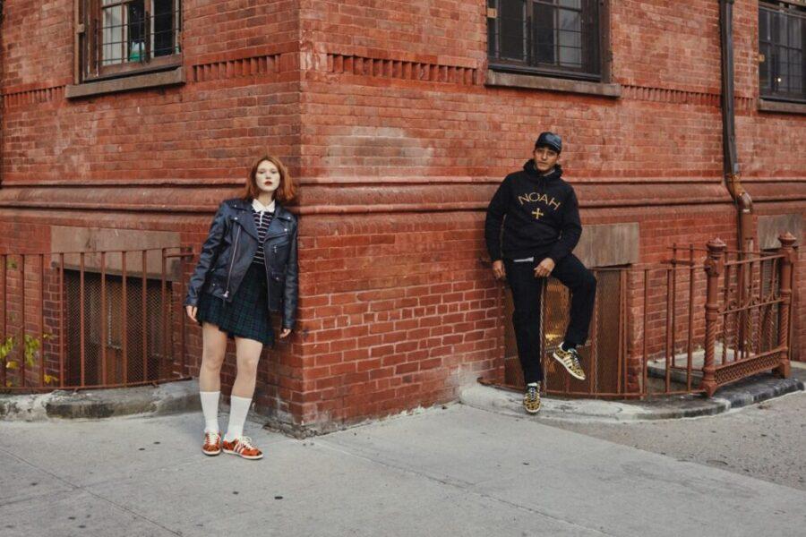 Кроссовки Adidas & NOAH Gazelle с камуфляжным и гепардовым принтом