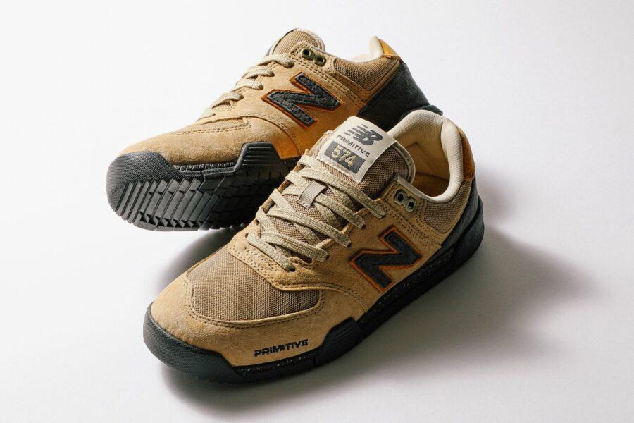 Кроссовки Primitive & New Balance Numeric 574 для скейтбординга