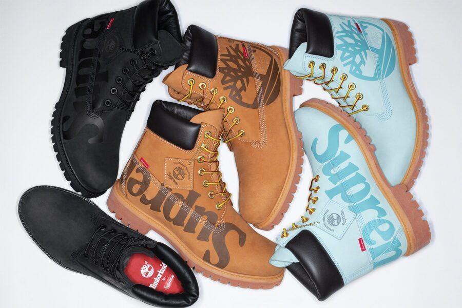 Зимние ботинки Supreme & Timberland с утеплителем PrimaLoft