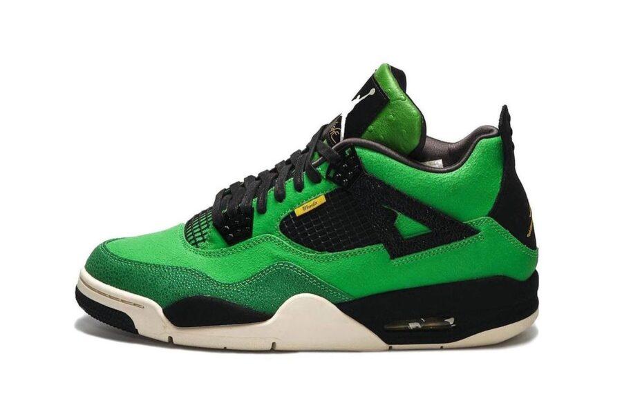 """Зеленые кроссовки Air Jordan 4 """"Manila"""""""